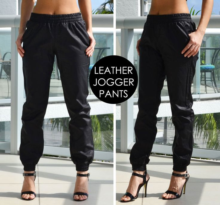 Trend Alert: Black Leather Joggers | Love Shopping Miami #leather #joggers #joggerpants
