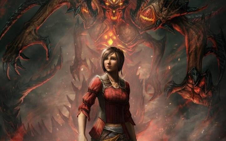 Art Diablo 3 Chica Monstruo