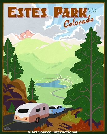 Vintage Camper Estes Park Poster  | http://retrorenovation.com/2007/12/10/more-vintage-style-travel-posters-courtesy-stephan/