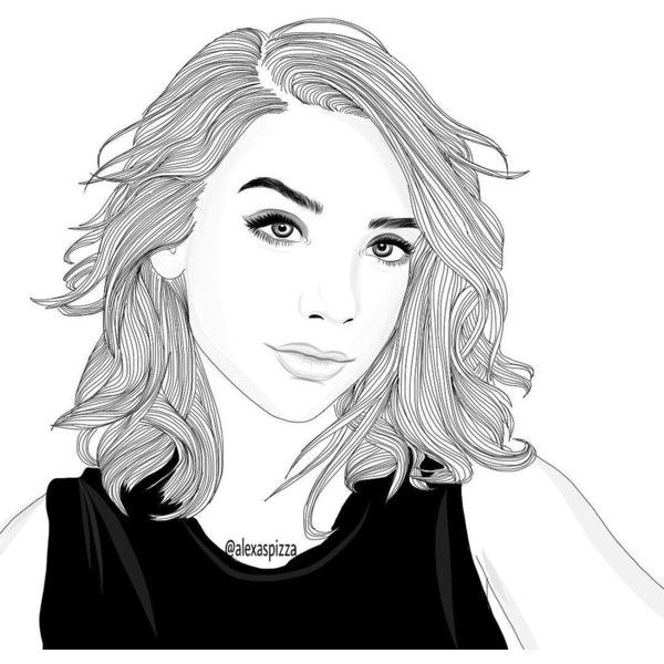 girl drawings coloring pages - photo#26