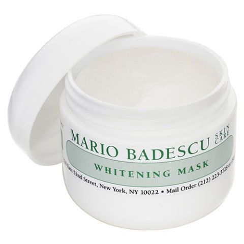 Mario Badescu Whitening Mask Mario Badescu is a Kardashian-Jenner fave, and, tell us, have you ever seen a pimple on Kylie or Kim? Didn't think so. Infused with kojic acid, licorice and grape extract, old acne scarring dulls down until it vanishes, creating a balanced, clear complexion.