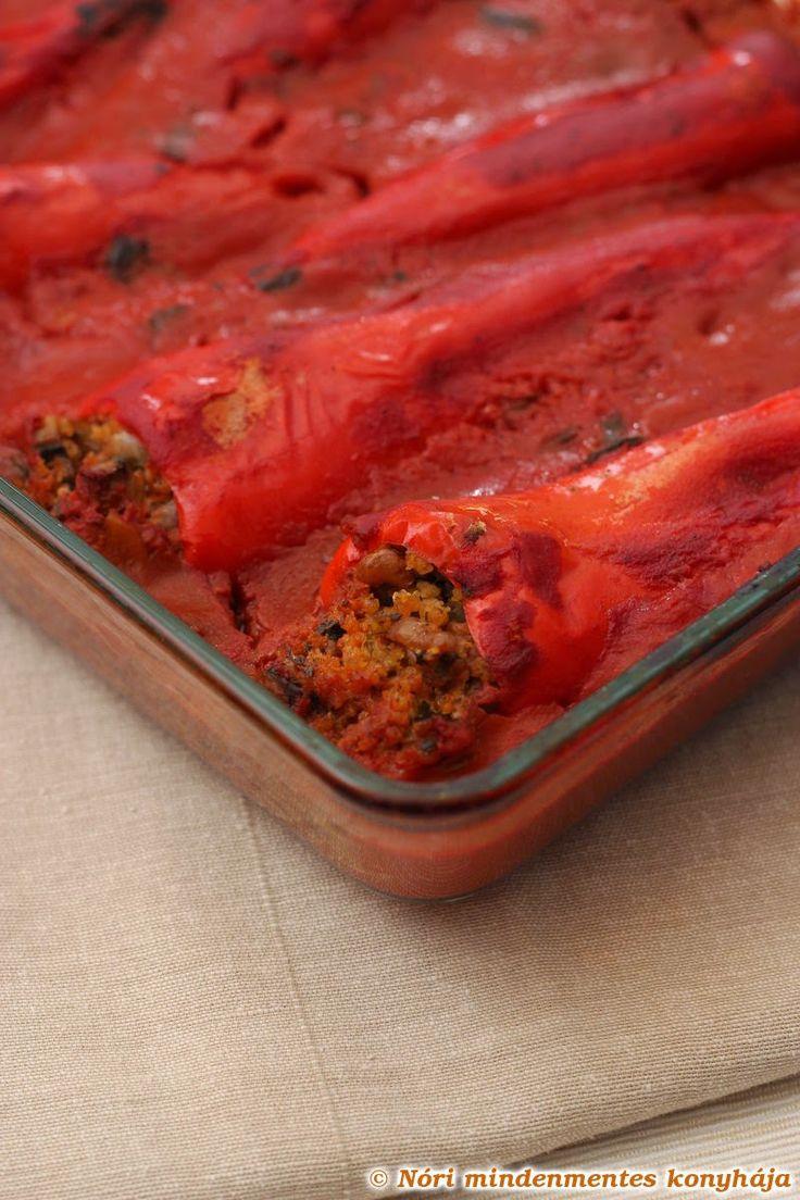 Nóri mindenmentes konyhája: Sült vegán töltött paprika