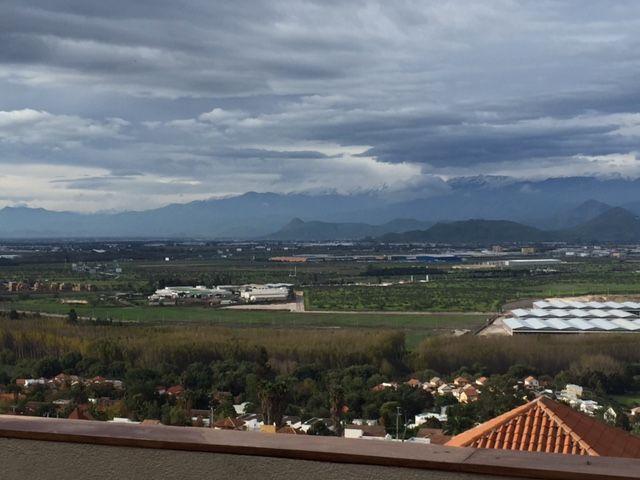 Desde la terraza del 2do piso vista de Santiago después de la lluvia
