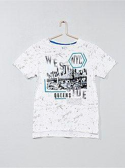 fa05ecabd06 Niño 10-18 años - Camiseta estampada  Nueva York  - Kiabi