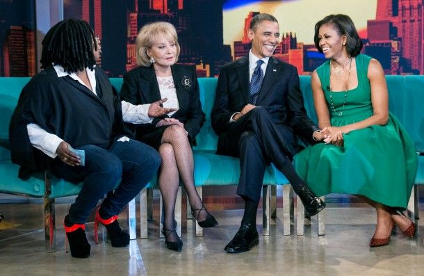 President Barack Obama and First Lady Michelle Obama sat with the ladies for a taping of The View at ABC Studios in New York City.