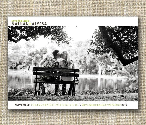 chic save the date postcard!