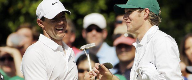 One Direction's Niall Horan caddied for Rory McIlroy, 18-times major winner Jack Nicklaus hit his first Augusta hole-in-one at the age of 75 and Tiger Woods was disqualified after his daughter tapped in a putt on the famous course.