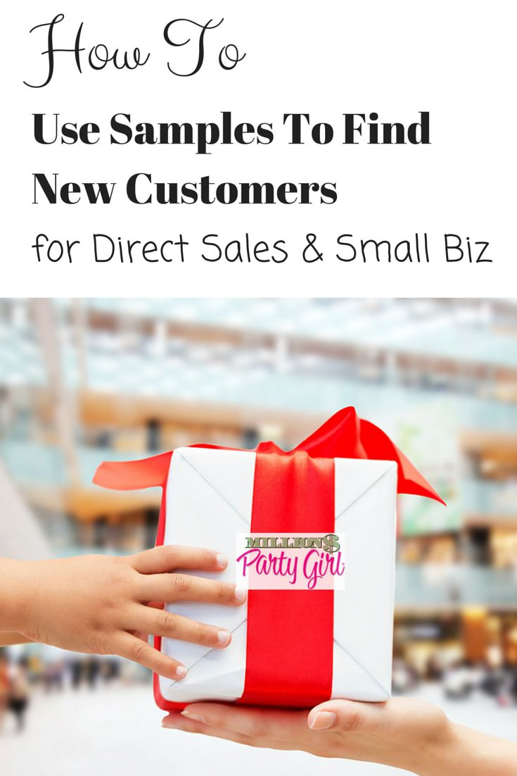 How to Use Samples To Find New Customers: for Direct Sales and Small Biz. This is part 4 of my 7 part series: More Customers In 30 Days