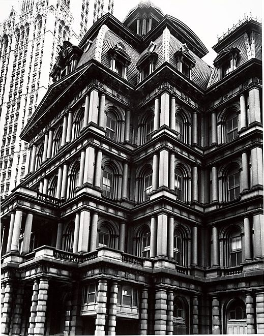 Berenice Abbott, Old Post Office, Broadway and Park Row, Manhattan, 1938