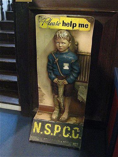 [creepy charity-box] NSPCC child, Durham - c.1960?