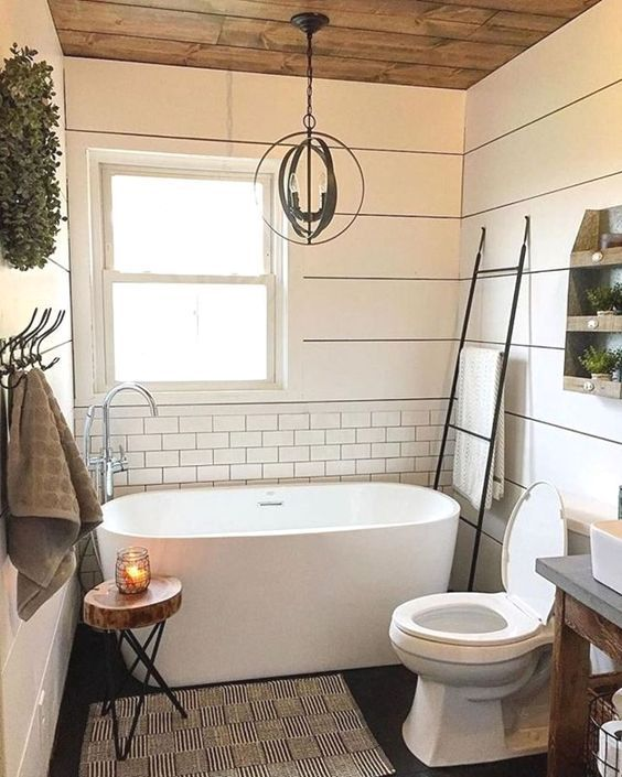 63 Modern Farmhouse Master Bathroom Design Ideas From the house
