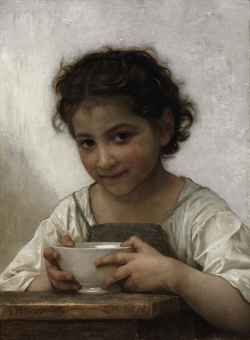 William Adolphe Bouguereau (La Rochelle 1825-1905)  La soupe au laitLa Soup, Soup Au, Milk Soup, William Adolphe Bouguereau, Williams Bouguereau, Milk, Art, Williamadolph Bouguereau, Williams Adolphe Bouguereau