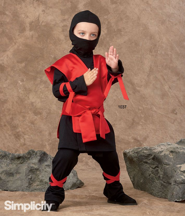 Sew this easy ninja costume for kids with Simplicity Pattern 1037!