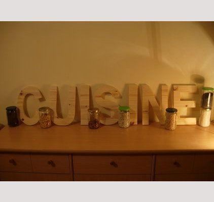 13 best images about lettres en bois décoratives on pinterest | 10 ... - Lettres Decoratives Cuisine