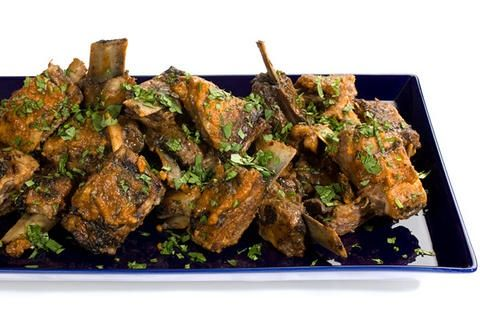 Interesting spiced lamb riblets recipe - thinking of making this for the Super Bowl.