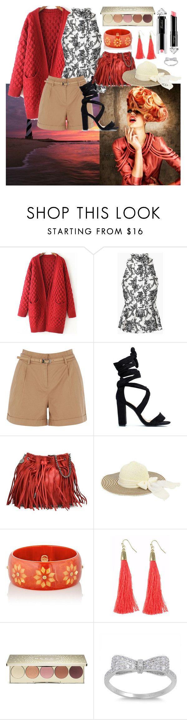 """fashion look n233."" by alemcboss ❤ liked on Polyvore featuring Oasis, STELLA McCARTNEY, Mark Davis, La Petite Robe di Chiara Boni and Becca"