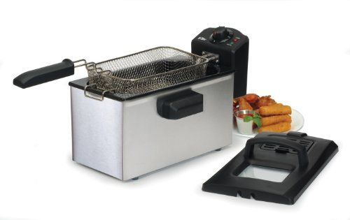 MaxiMatic EDF-3507 Elite Cuisine Immersion Deep Fryer, 3.5-Quart, With its beautiful brushed stainless steel exterior, this deep fryer is an absolute necessity to any modern home kitchen.