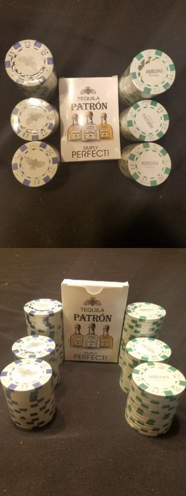 Poker Chips 166570: Tequila Patron Themed Poker Chipsand Cards Bee Logo New Green Blue Bar Lot 96 Set -> BUY IT NOW ONLY: $44.99 on eBay!