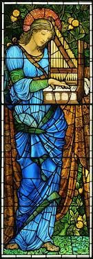St Cecelia - Burne Jones detail