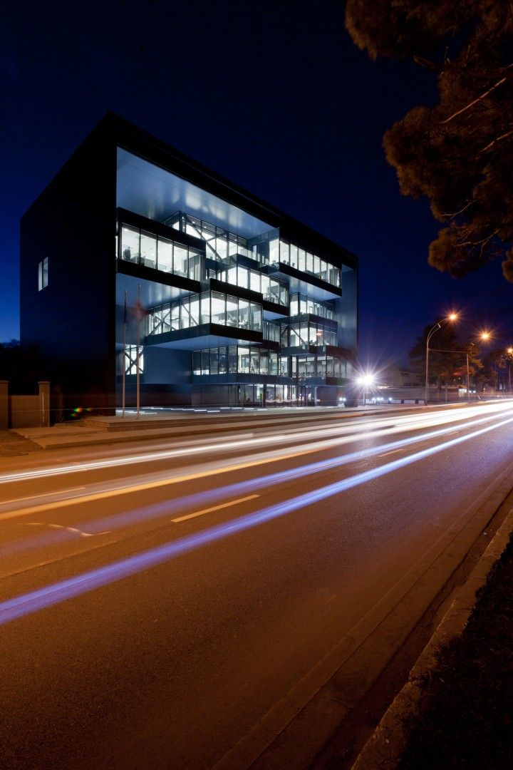 Martini Light in Tbilisi, Georgia. Designed by Architects of Invention, the Public Prosecutor's office building