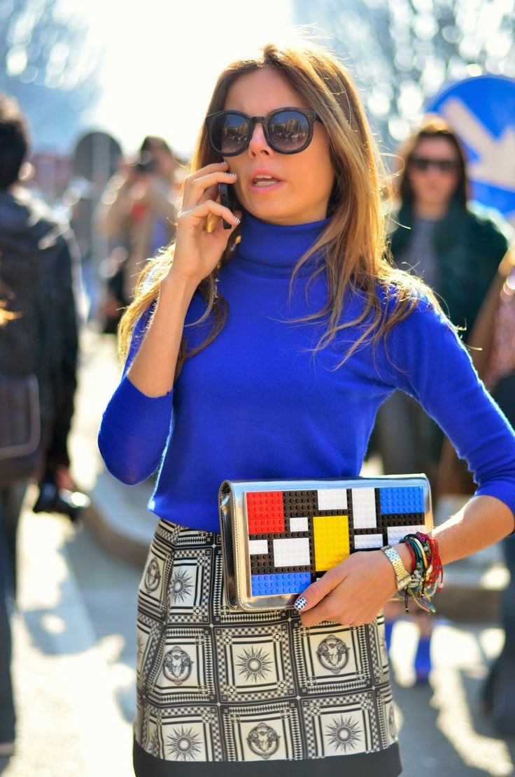 #StreetStyle Milan Fashion Week #MFW #AzulKlein