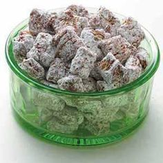 Chocolate Wheat Cereal Snacks Recipe -- looks like puppy chow with shredded wheat