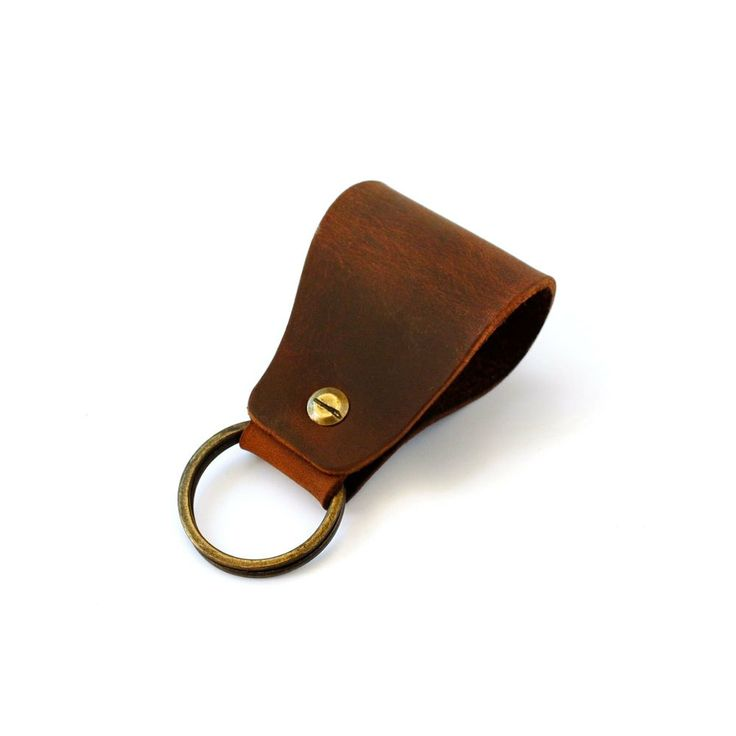 Leather Key Fob by AtelierPALL.com. Brown leather keychain with unique stylish aspect perfect for conservative people who appreciate high quality products!