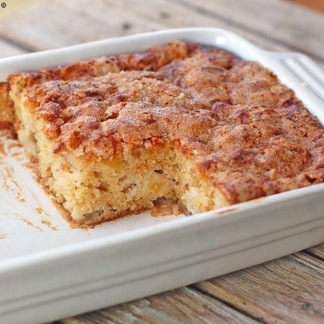 Cinnamon Sugar Apple Cake