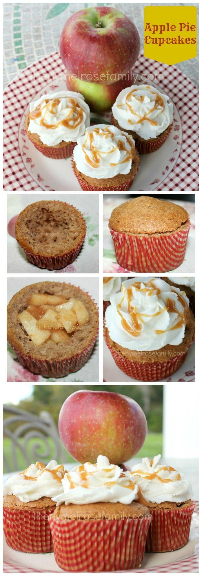 Apple Pie Cupcakes www.thenymelrosefamily.com #applepie #cupcakes