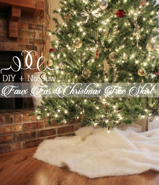 DIY, Easy, No-Sew Faux Fur Tree Skirt | Bean In Love blog