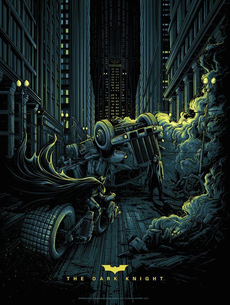 The Dark Knight (variant), by Dan Mumford #danmumford #batmanprint