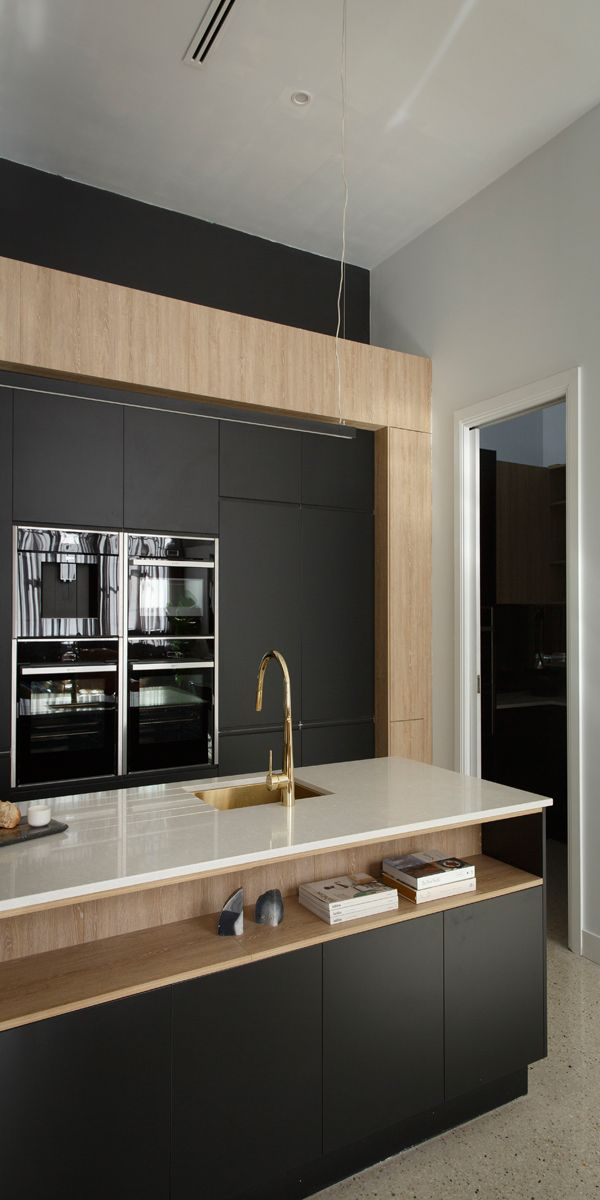 The block 2016 apartment one karlie will freedom kitchens kitchen interior design - Modern kitchen island ...