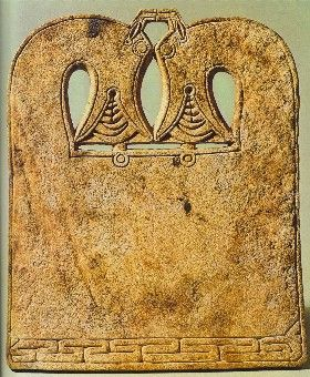 Dragon headed Whale bone Ironing board 7th Century, Norway