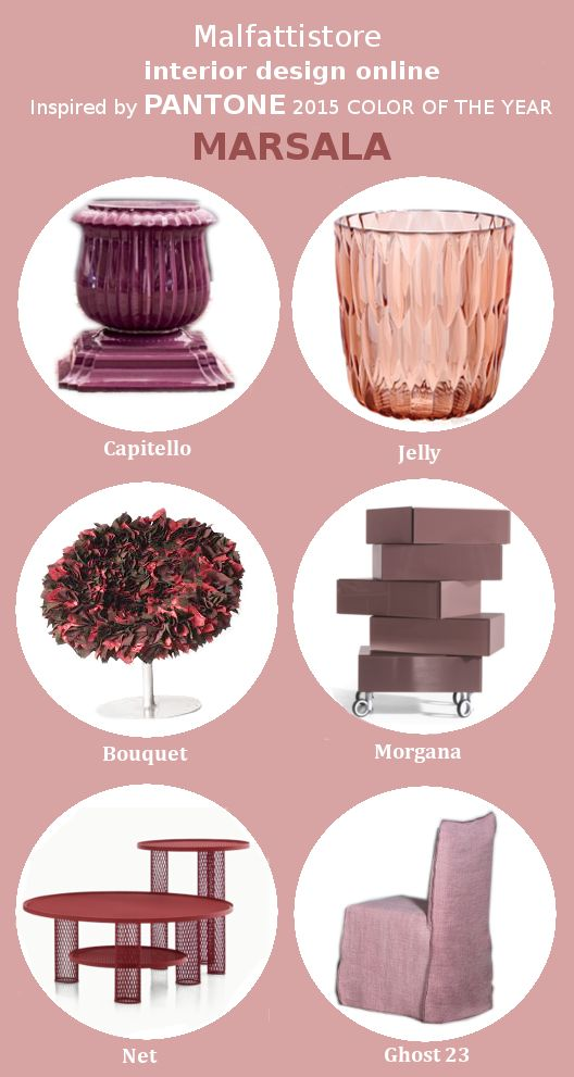 Malfattistore interior design online inspired by #PANTONE color of the year 2015 #marsala #polyvore