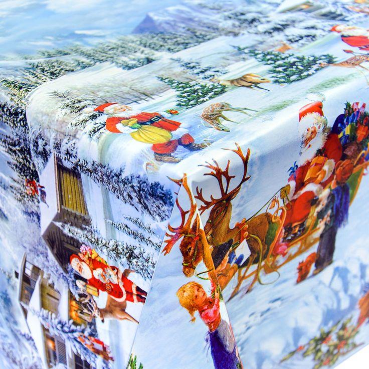 Wachstuch Tischdecke Meterware Motiv Weihnachten Tag | eBay
