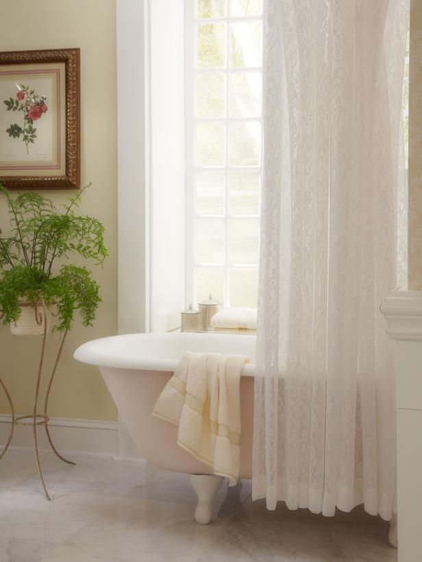 8 best shower curtains images on Pinterest | Bathroom, Lace shower ...