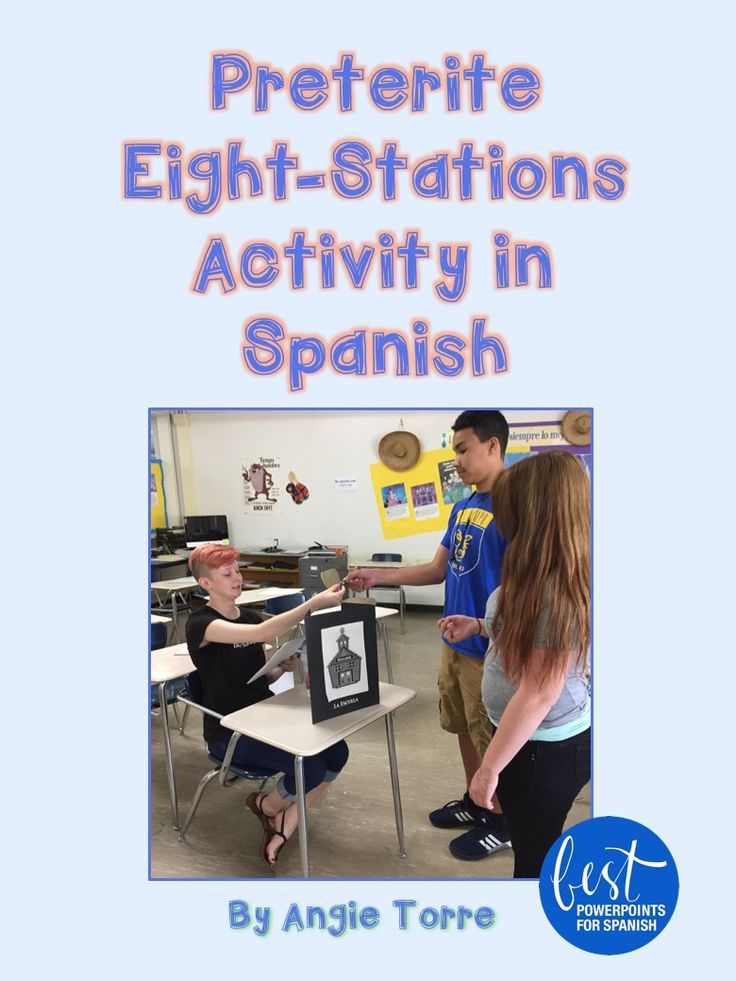 Here's a great activity for the Spanish Preterite by Angie Torre. Have you ever wished you could multiply the teacher's presence in a classroom of 30 plus students in order to give your language learners more opportunities to hear and speak the language? This activity provides eight more teachers and keeps students communicating in Spanish for one or two entire class periods as they proceed from one station to the next asking and answering questions. Used as a culminating activity to the…