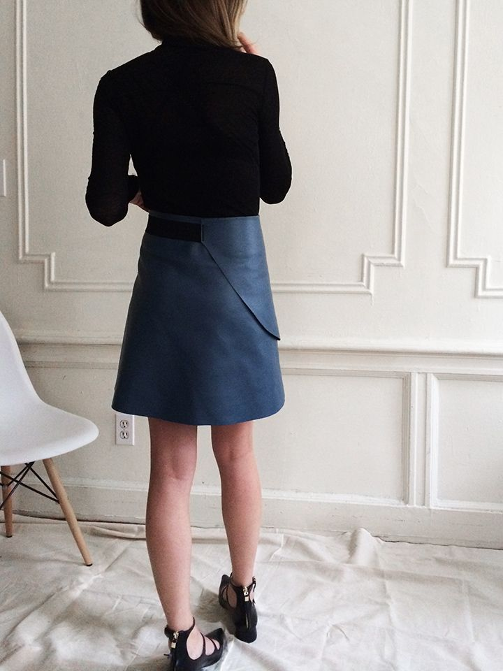 Leather #giveaway and a simple leather skirt #diy | DeSmitten