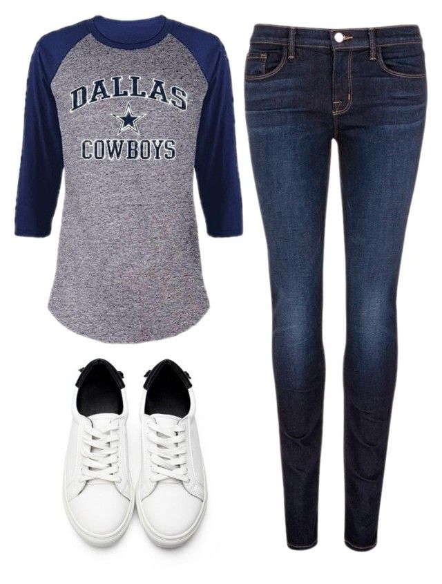 """""""Dallas Cowboys"""" by southern-mom ❤ liked on Polyvore featuring J Brand and plus size clothing"""
