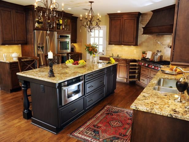 Wonderful Tuscan Country Styled Kitchen : This Works, Lighter Floor, Darker  Cabinetry. Like