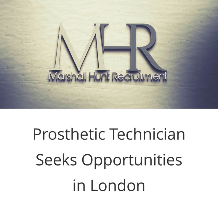 I have a prosthetics technician seeking opportunities in the London area. If you would like more info on this candidate, please contact me at andy@marshallhunt.co.uk  Many thanks
