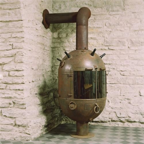 It's a mine stove (from the awesome folks at the Recycled Art Foundation…