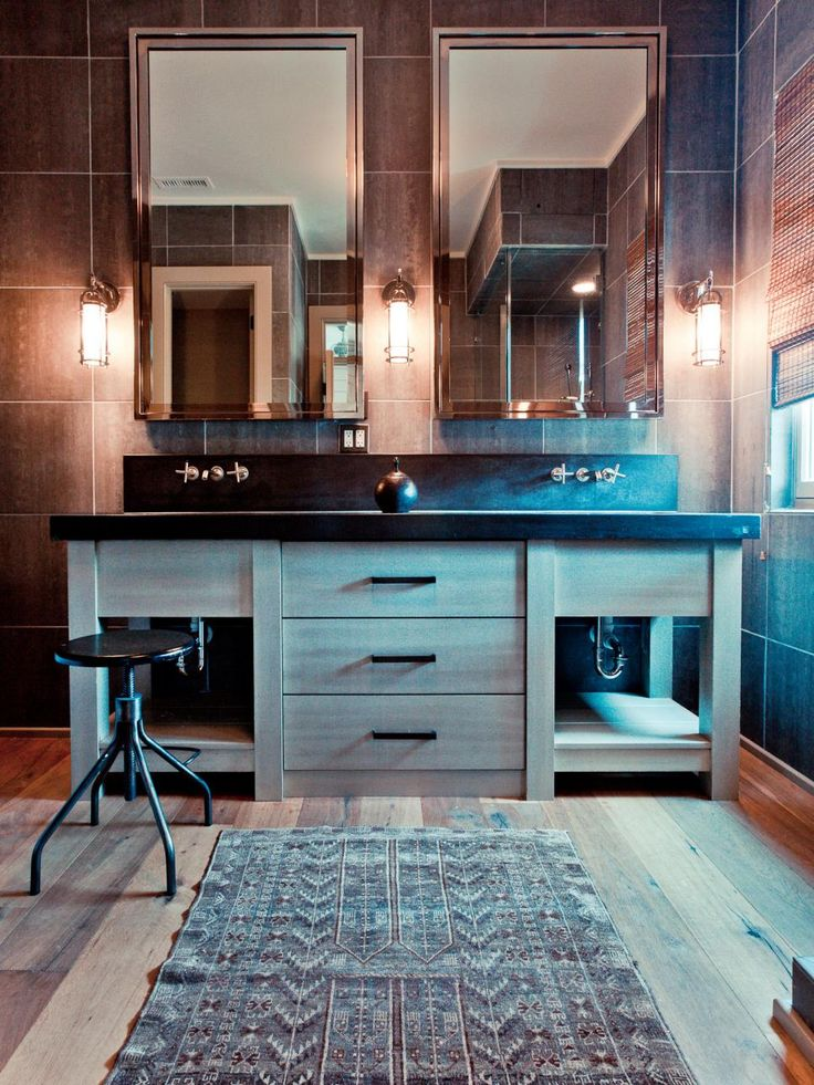 The bathroom design experts at HGTV.com share 15 stylish ways to use Carrara marble, glass, porcelain or ceramic tile to add a lot of style to your bathroom.