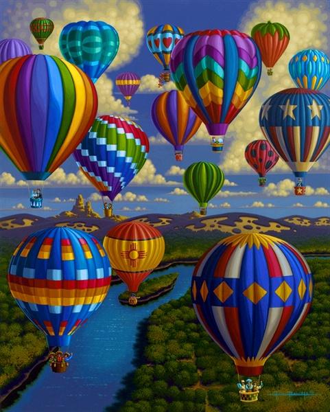 Balloon Festival by Eric Dowdle - Sandia, New Mexico
