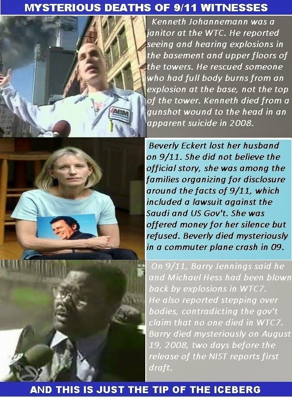 "Mysterious Deaths of 9/11 Eye Witnesses - Proof that 9/11 was an ""Inside Job"""
