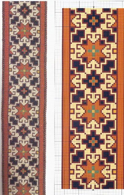 Esquemas alfombras punto cruz - pilar garcia - Picasa Web Albums follow the links for lots of carpet patterns to stitch