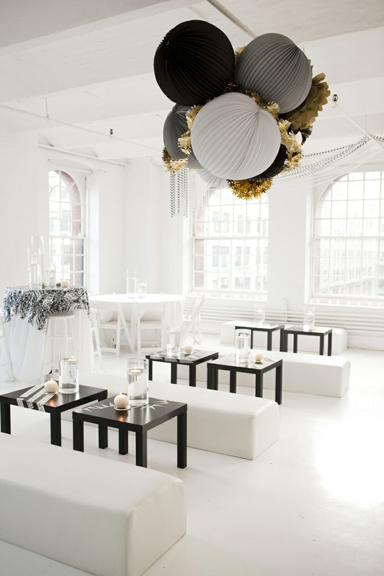 Black White And Gray Color Palette Inspiration For Your Wedding Reception