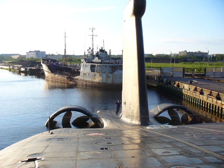 Presenting the business end of a Russian Akula class submarine.
