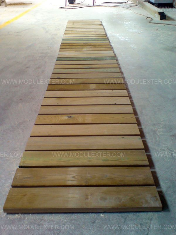 Pasarela de madera enrollable Vista 2