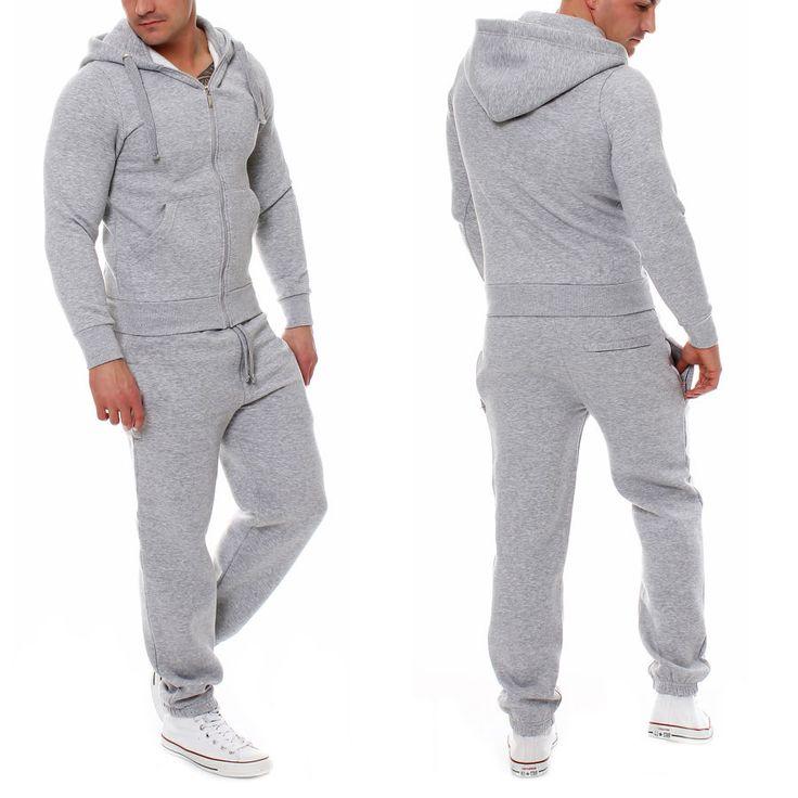 Fabrica Uomo Jogging Completo Tuta Da Ginnastica Felpa Pantaloni | eBay
